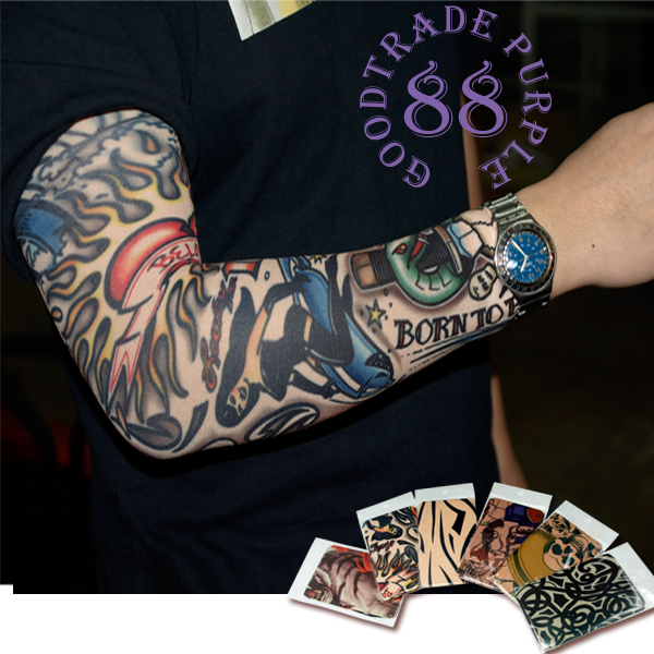 Fake tattoo patterns on the sleeves - Six patterns with different styles