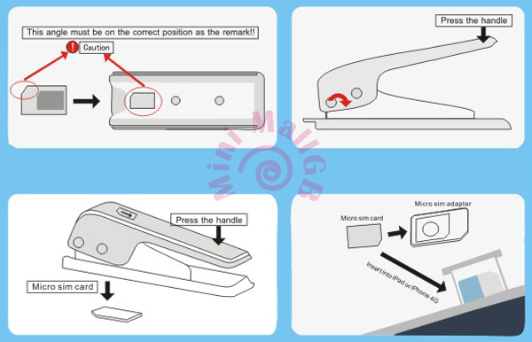 how to cut micro sim card for iphone 4