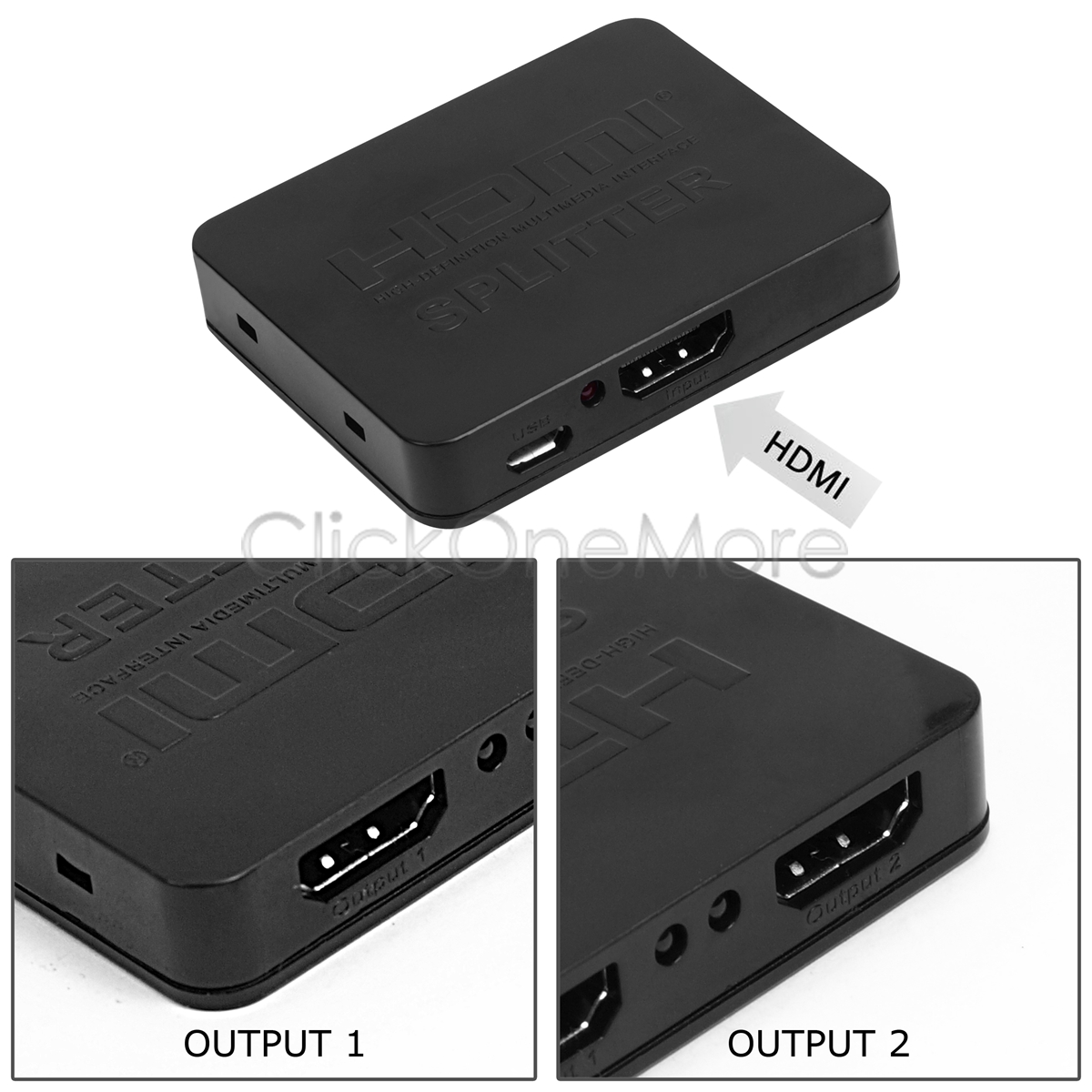 hdmi verteiler splitter adapter 1 in 2 out f r full hd 1080p hdtv 3d de ebay. Black Bedroom Furniture Sets. Home Design Ideas