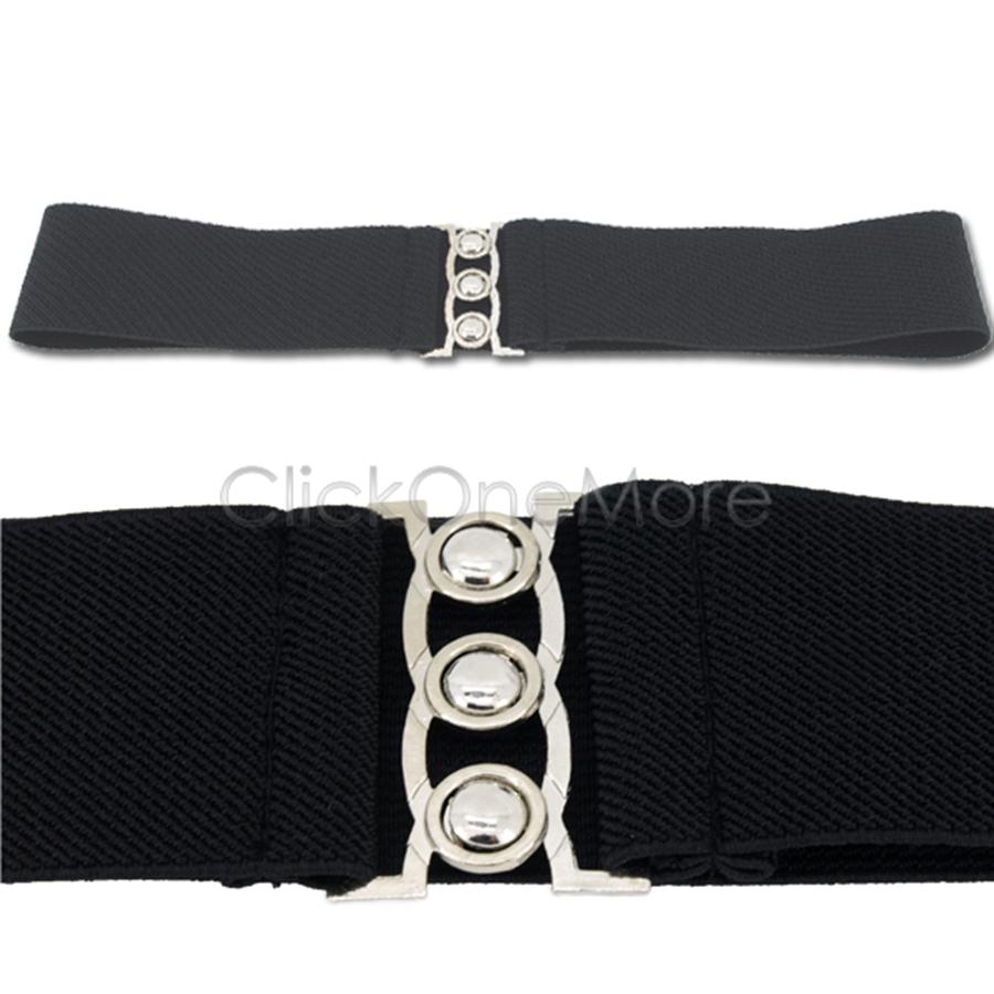 sai fashion cinch buckle 2 inch wide stretch elastic