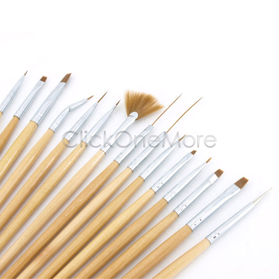 15PCS-PRO-ACRYLIC-NAIL-ART-DESIGN-BRUSH-PEN-SET-FAST-UK