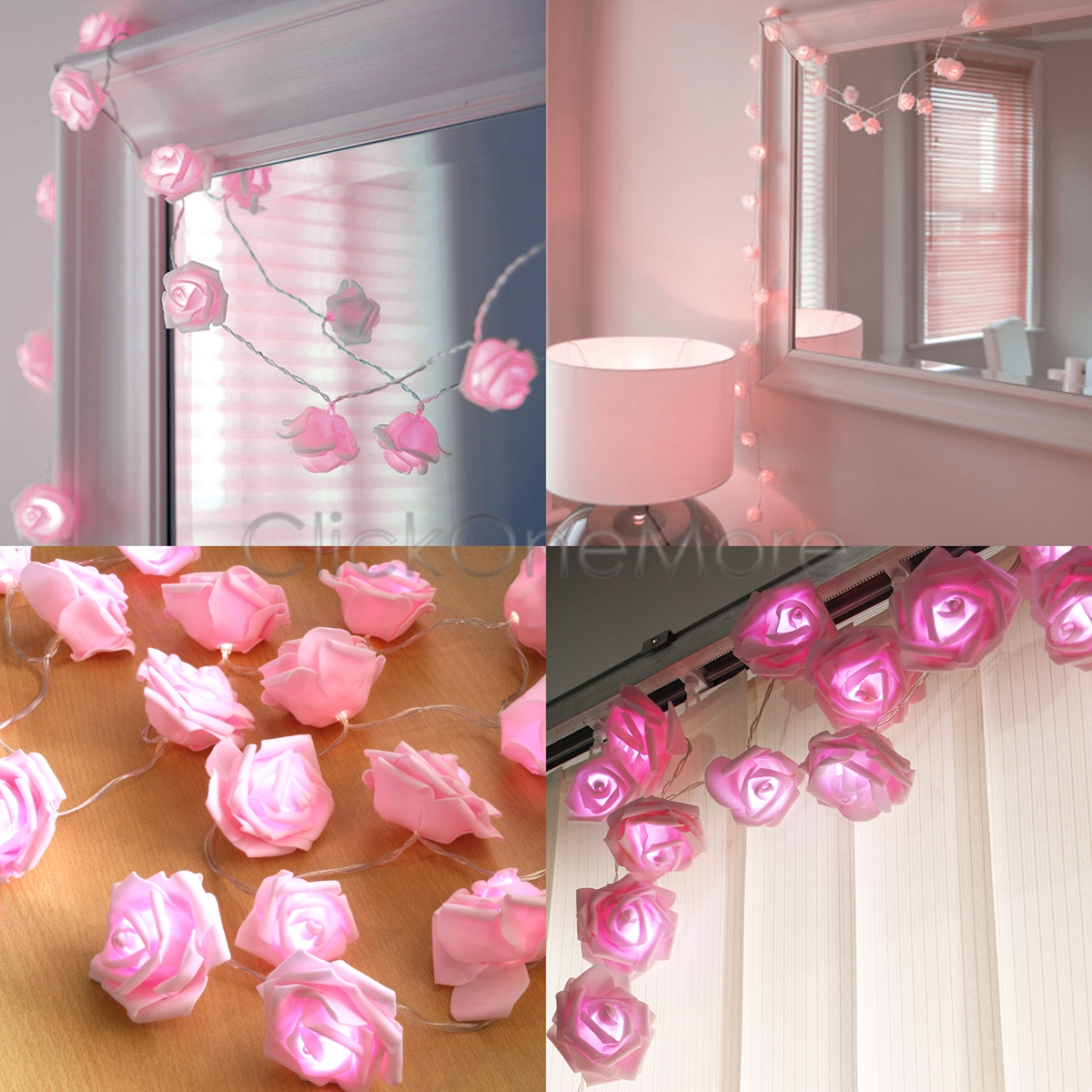 sai 20 led pink rose flower battery operated fairy light