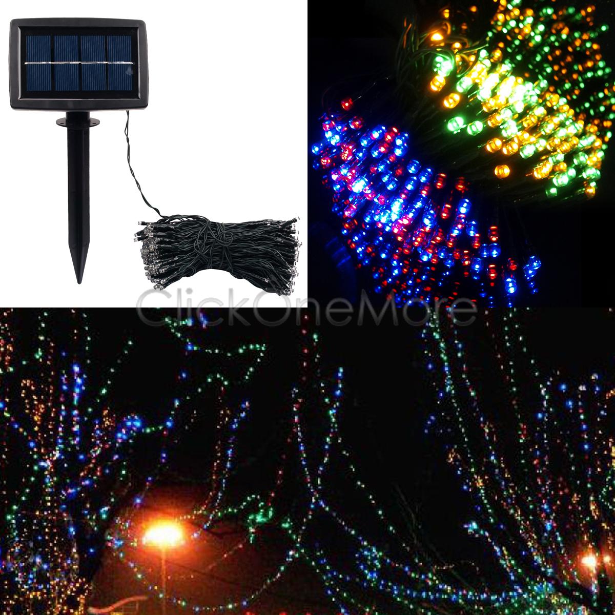 88G Mix di colori 200 LED Ad Energia Solare Fatato Corda Luce Giardino Natale  eBay