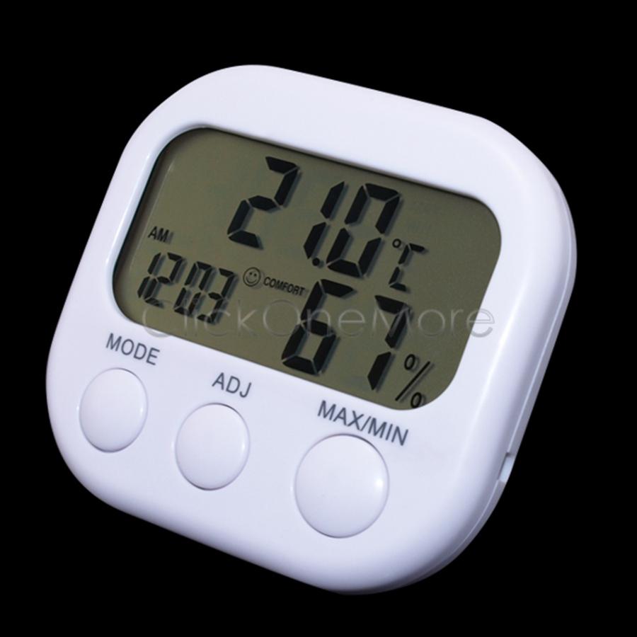 Btu digital lcd indoor temperature thermometer humidity for Indoor design temperature