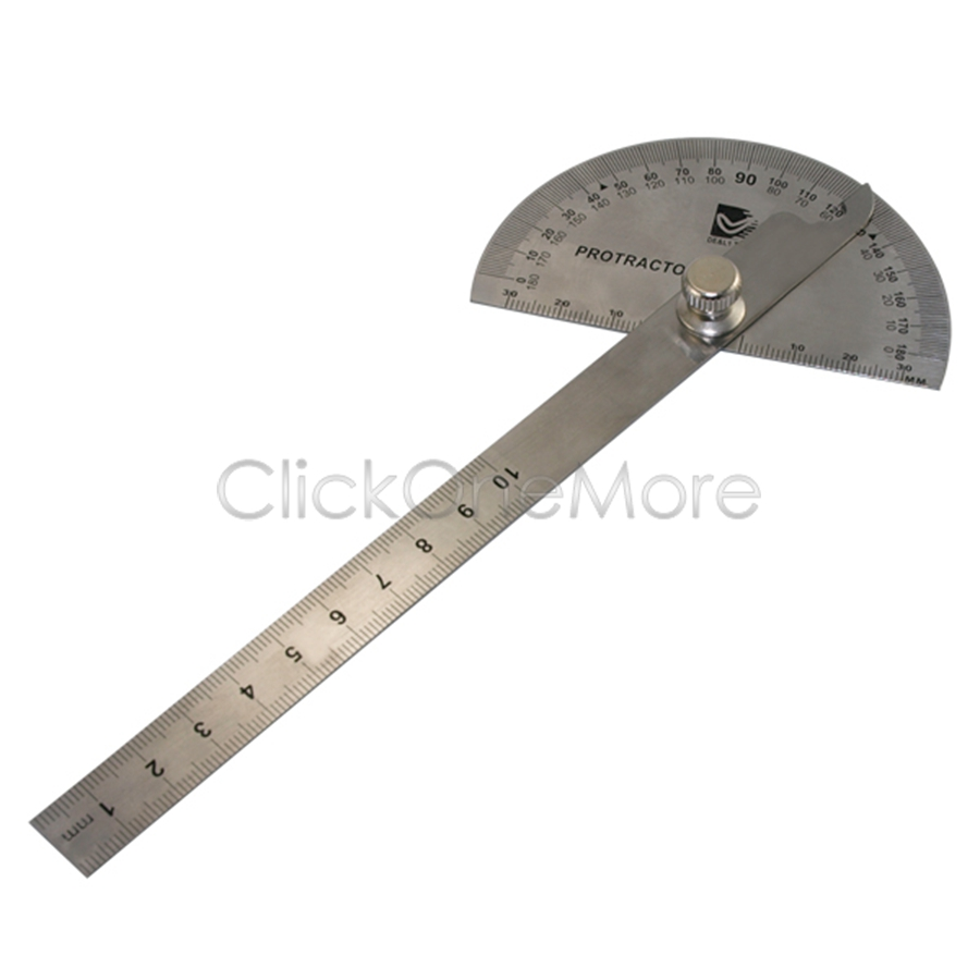 Details about btu stainless steel 0 180 protractor angle finder arm