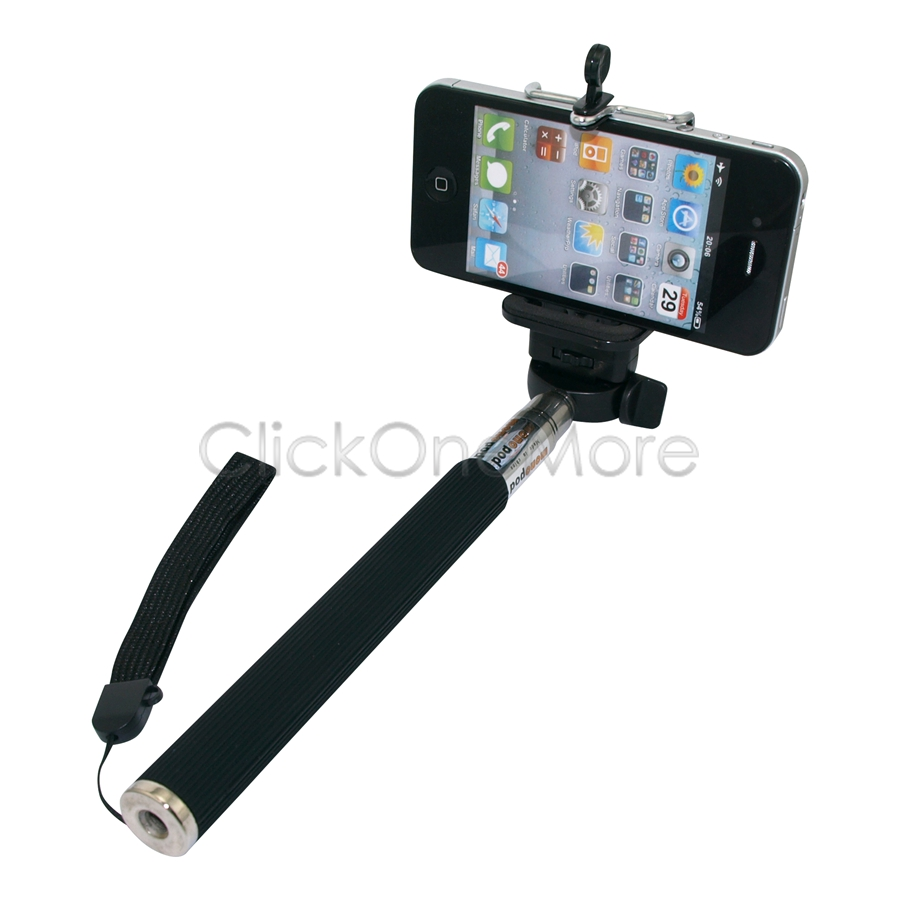 88g selfie telescopic stick monopod mobile phone camera holder for iphone 5. Black Bedroom Furniture Sets. Home Design Ideas