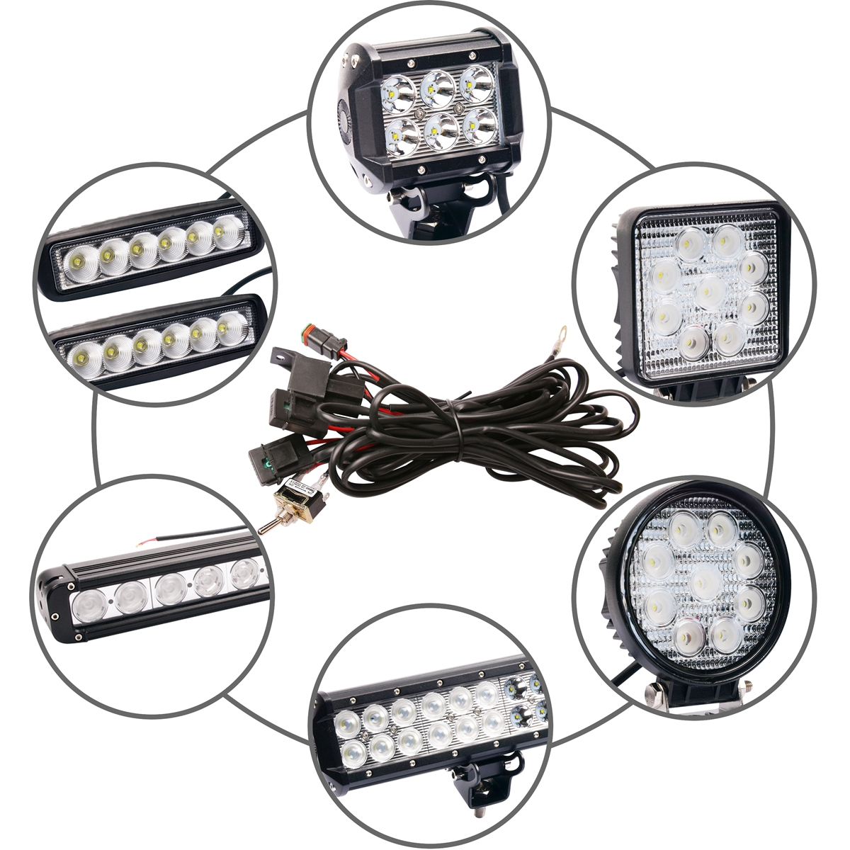 Wow Premium Led Hid Driving Work Light Wiring Loom