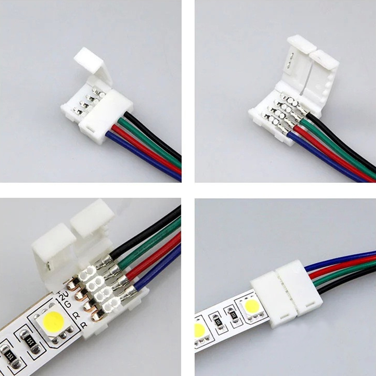 wow 3528 5050 5050 rgb led strip adapter cable pcb light. Black Bedroom Furniture Sets. Home Design Ideas