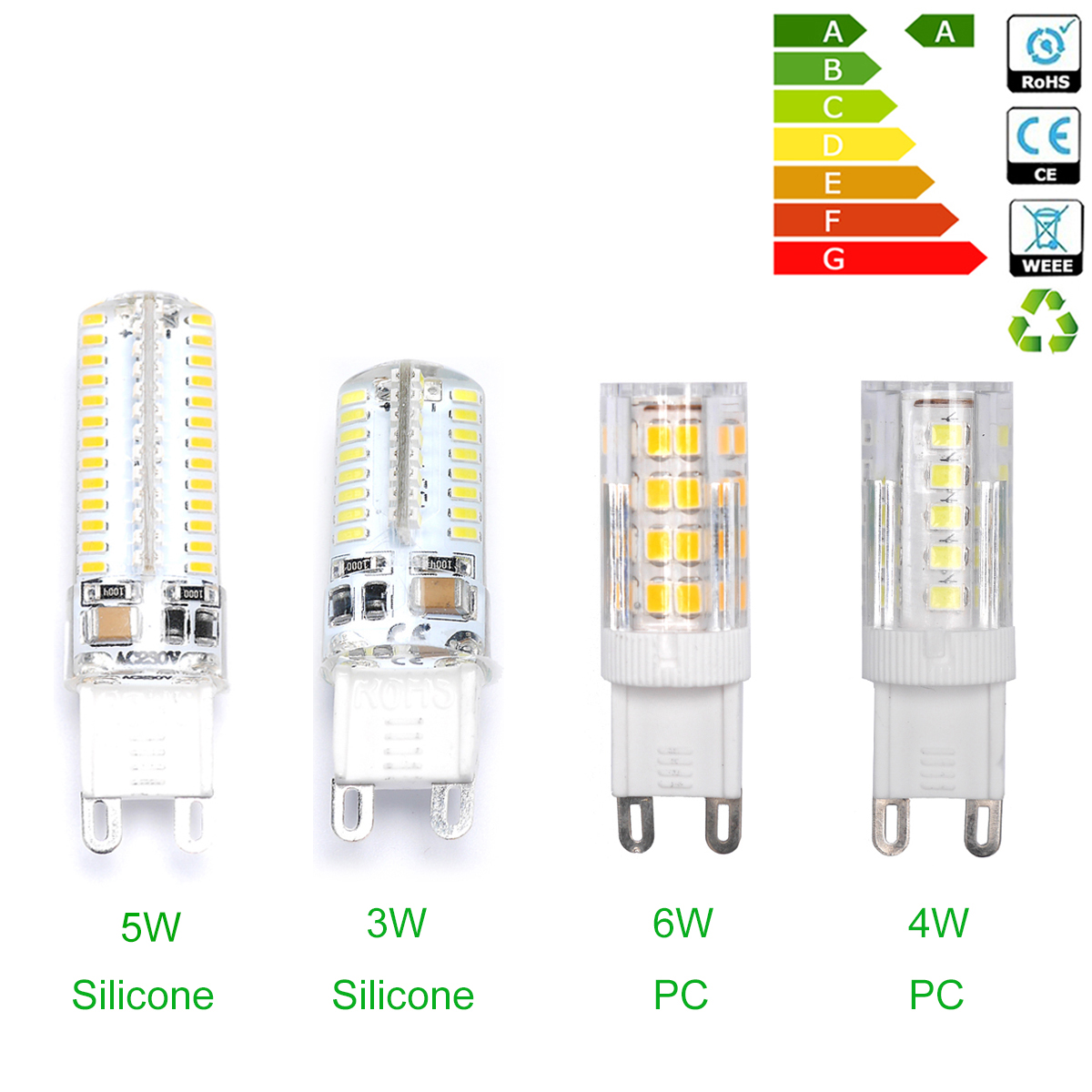 3W 4W 5W 6W G9 LED Capsule Bulb LED Light Replace Halogen ...