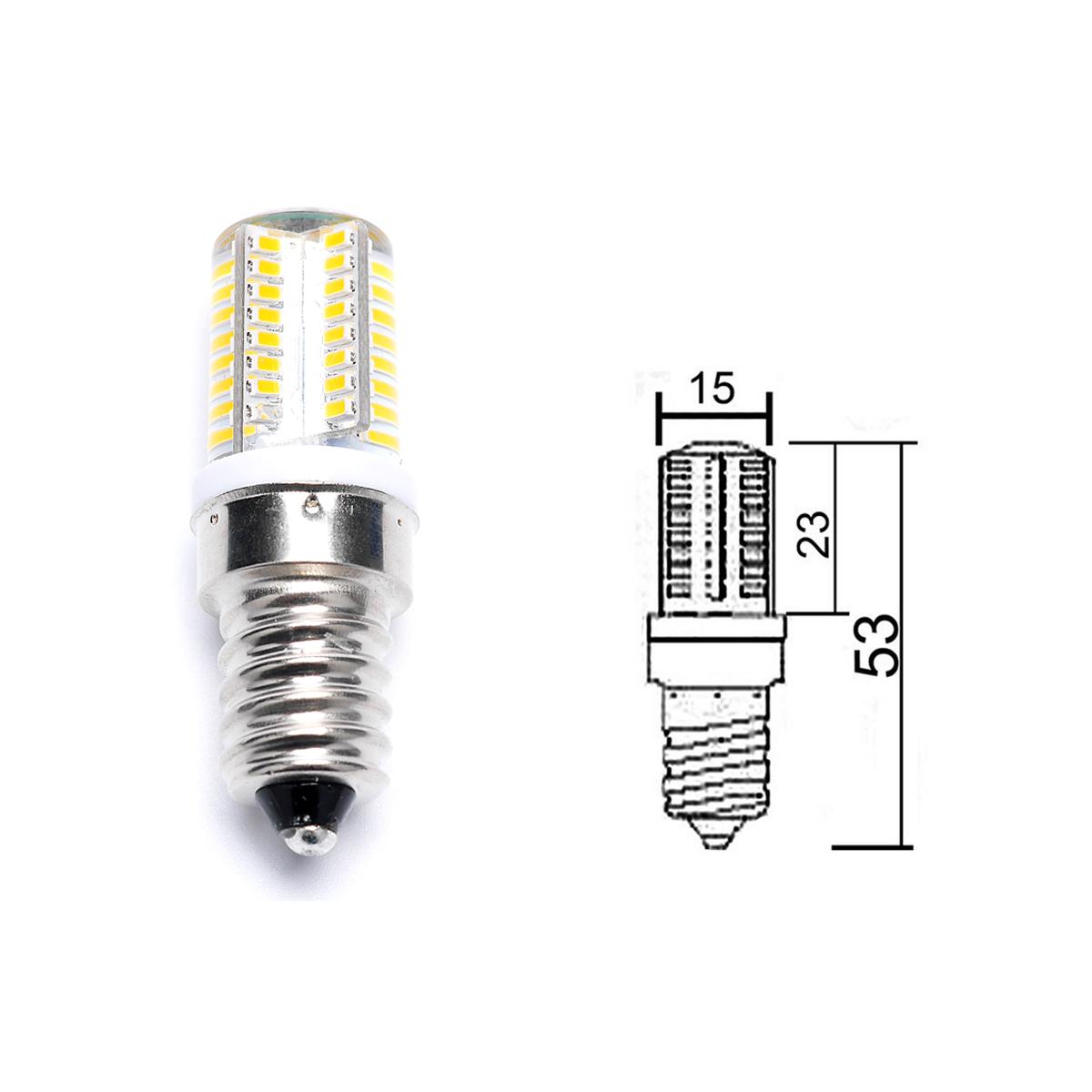 E14 3W 64 LED SMD Capsule Bulbs Corn Bulb Light Replace ...