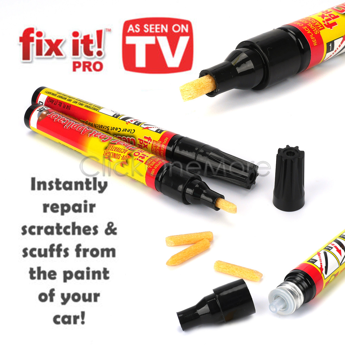 2 x fix it pro clear coat car paint scratch remover painting repair pen tool oz ebay. Black Bedroom Furniture Sets. Home Design Ideas