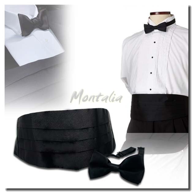 Montalia Tuxedo Formal Suit Cummerbund Pre Tie Bowtie